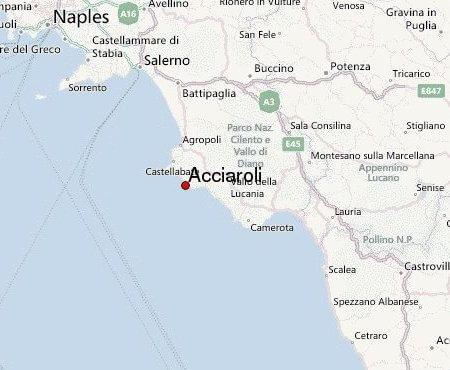 acciaroli carte géographique