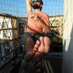 Antoine sur le balcon