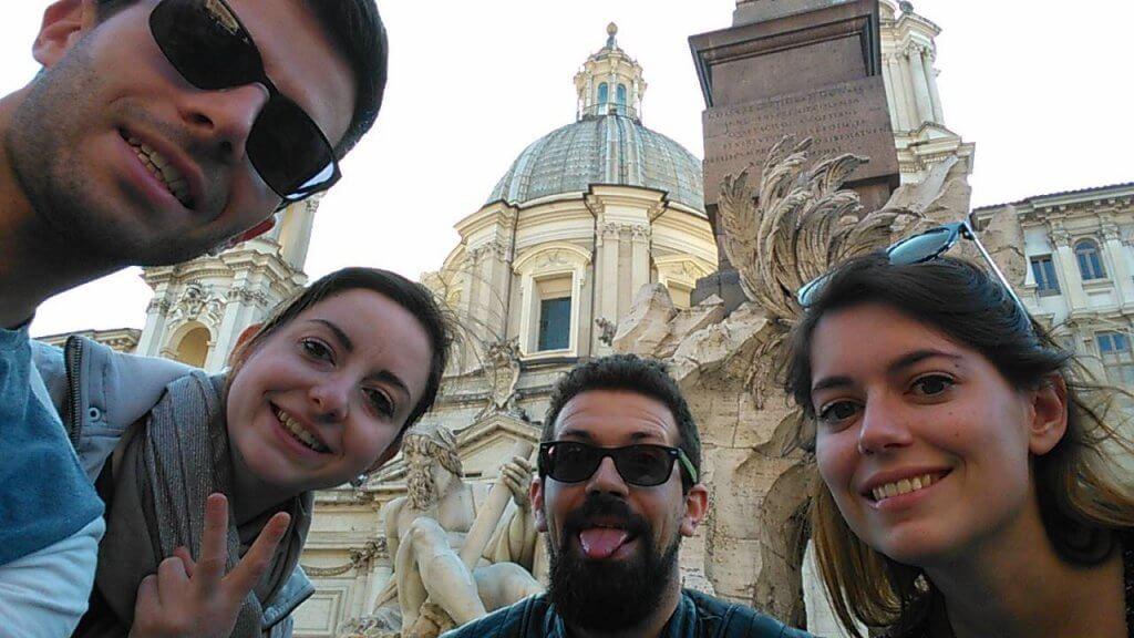 4 touristes à Rome