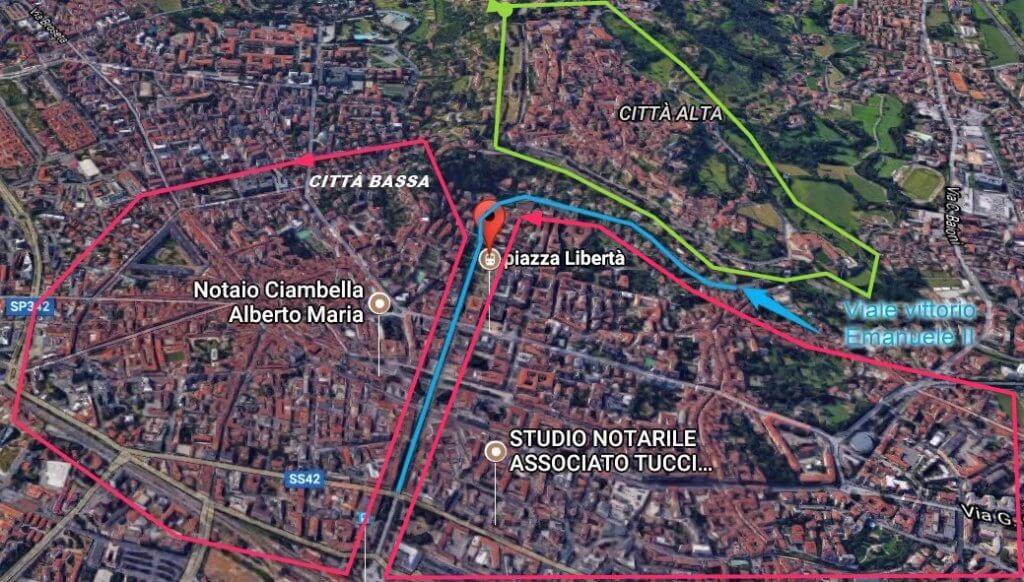 Bergamo città alta-bassa