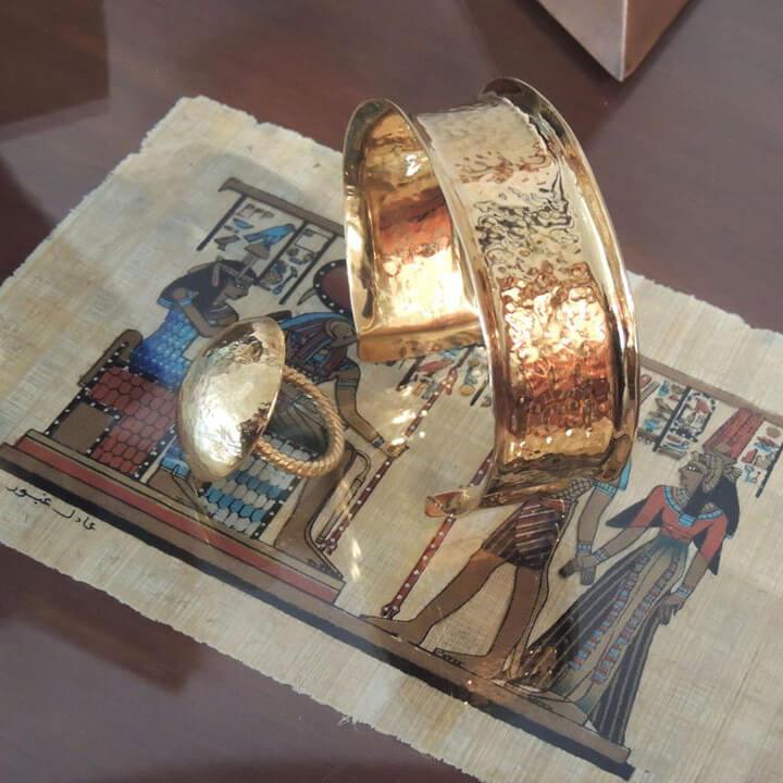 En Égyptien Mordus Style Xbqrhdsotc Bracelet Or D'italie uXikPZ