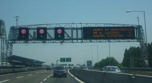 panneaux lumineux autoroutes italie
