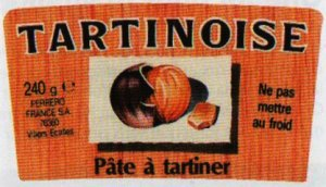 la tartinoise - ancien nutella