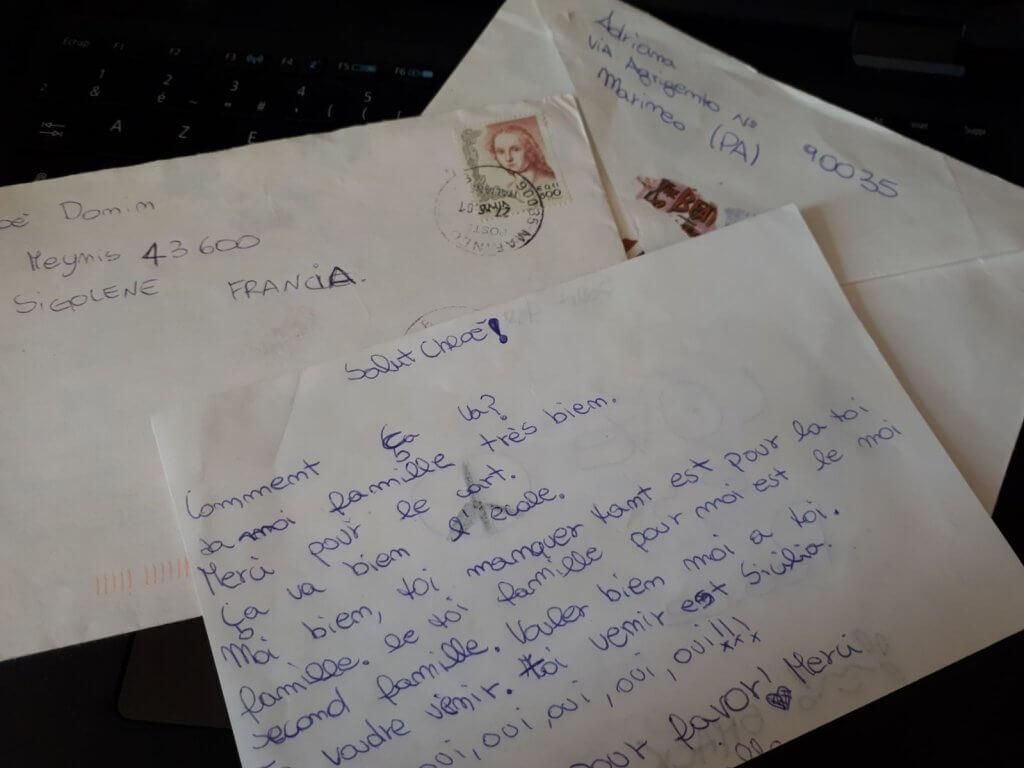 écrire des lettres en italien